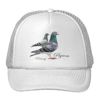 Casquette avec paire de pigeons voyageur