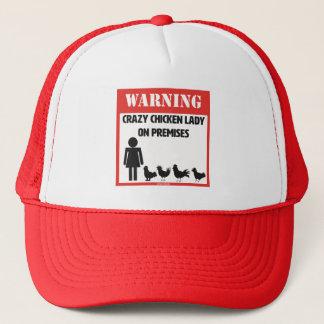 Casquette Avertissement : Madame folle Trucker Hat de poulet