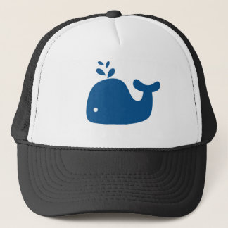 Casquette Baleine de silhouette de bleu marine