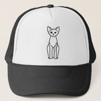 Casquette Bande dessinée de chat de Devon Rex