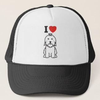 Casquette Bande dessinée de chien maltais