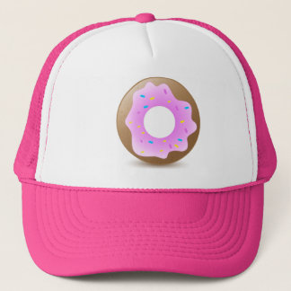 Casquette Beignet rose simple