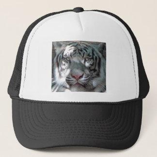 Casquette blanc de camionneur de tigre