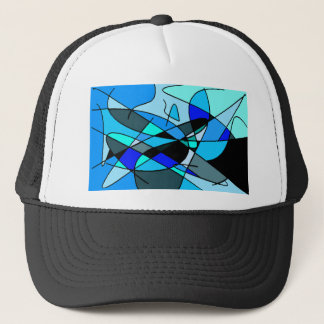 Casquette Bleu abstrait 8