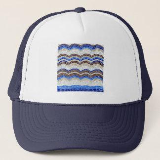 Casquette bleu de camionneur de mosaïque