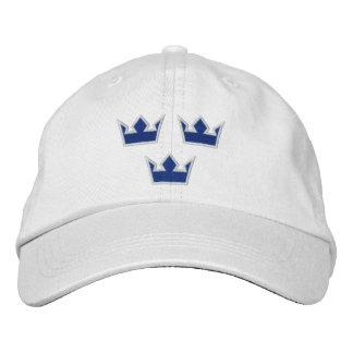 Casquette bleu de couronnes de la Suède Tre