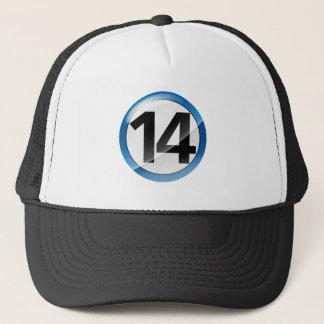 Casquette Bleu du numéro 14