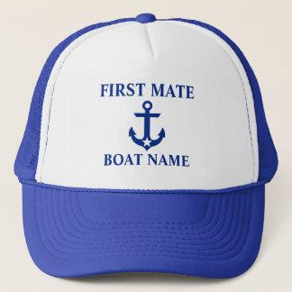 Casquette Bleu nautique d'étoile d'ancre de nom de bateau de