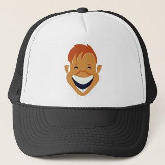 Casquette bonnet coûteux en riant