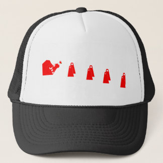 Casquette Border collie rouge faisant Flyball