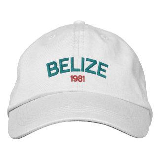Casquette brodé de Belize 1981