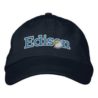 Casquette brodé de logo d'ours d'Edison
