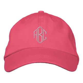 Casquette brodé d'équipe de mariage de monogramme casquette de baseball brodée