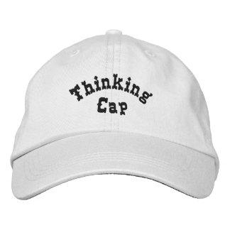 Casquette brodé drôle de casquette de pensée