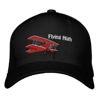 Casquette brodé haut par avion volant