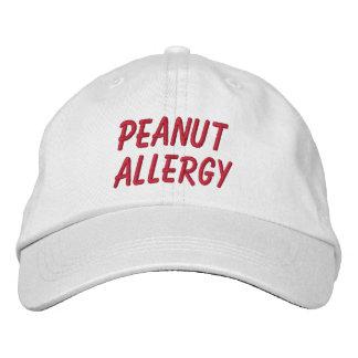 Casquette brodé par allergie d'arachide