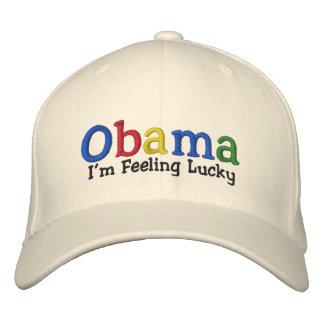 Casquette brodé par Barack Obama chanceux