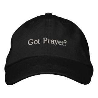 Casquette brodé par prière obtenu
