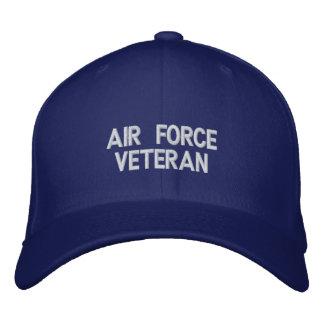 Casquette brodé par vétéran de l'Armée de l'Air