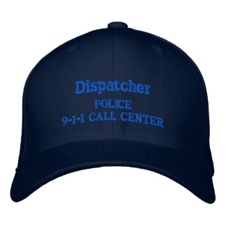 CASQUETTE BRODÉE 9-1-1 SERVICE DE POLICE DE CENTRE D'ATTENTION