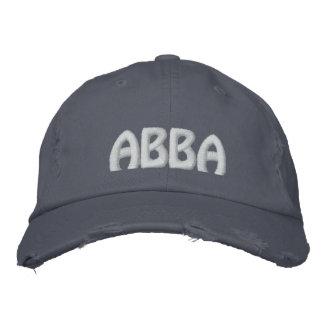 """Casquette Brodée ABBA - Mot Aramaic pour le """"père. """""""