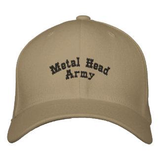 Casquette Brodée Armée principale en métal