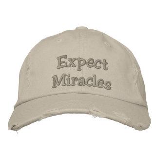 Casquette Brodée Attendez-vous à des miracles