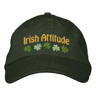 Casquette Brodée Attitude irlandaise et shamrocks