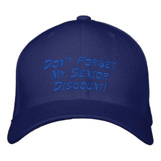 Casquette Brodée Bleu-clair n'oubliez pas ma remise supérieure !