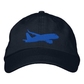 Casquette Brodée Broderie de vol de silhouette de jet d'avion de