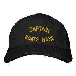 Casquette Brodée Capitaine avec votre nom fait sur commande de