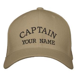 Casquette Brodée Capitaine fait sur commande Embroidered Hats
