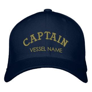 Casquette Brodée Capitaine personnalisé Hat de nom de bateau