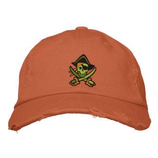 Casquette Brodée Capitaine Skull Embroidered Cap de pirate