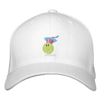 Casquette Brodée Caractère de balle de tennis