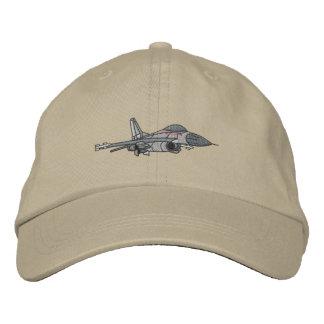 Casquette Brodée Faucon F-16 de combat