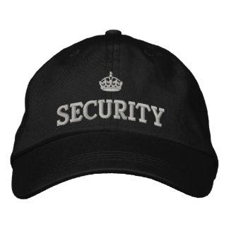 Casquette Brodée Garde de sécurité avec le logo de couronne
