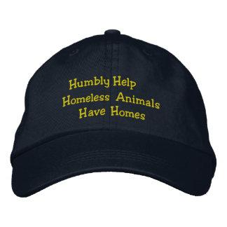 Casquette Brodée Humblement les animaux sans abri d'aide ont le