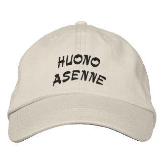 Casquette Brodée Huono Asenne - mauvaise attitude