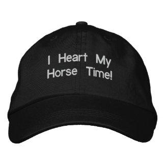 Casquette Brodée I coeur mon temps de cheval !