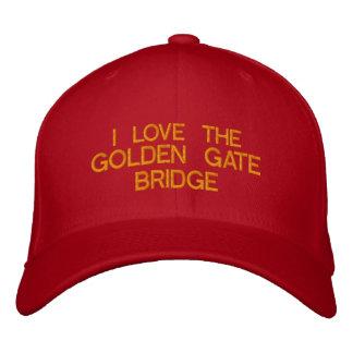 Casquette Brodée J'AIME GOLDEN GATE BRIDGE - eZaZZleMan.com
