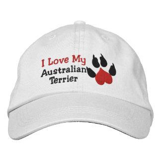 Casquette Brodée J'aime ma patte Prin de chien de Terrier