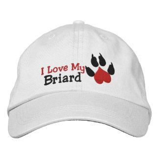 Casquette Brodée J'aime mon empreinte de patte de chien de Briard
