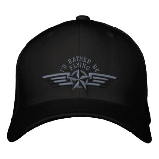Casquette Brodée Je piloterais plutôt des ailes de pilote d'insigne