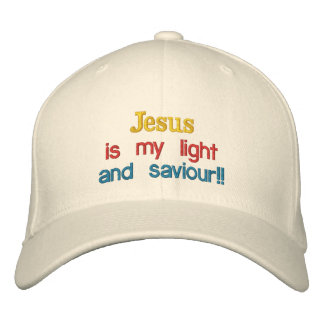 Casquette Brodée Jésus est ma lumière, et sauveur ! ! ,