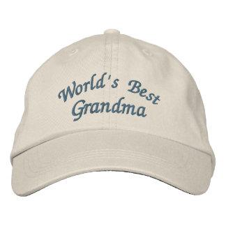 Casquette Brodée La meilleure grand-maman du monde mignonne