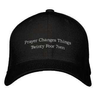 Casquette Brodée La prière change des choses Twinty Foor 7ven