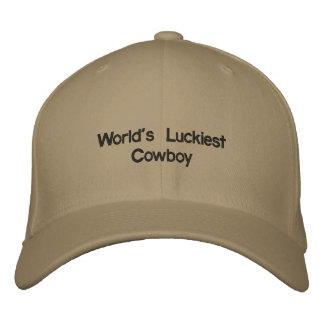 Casquette Brodée Le cowboy le plus chanceux du monde
