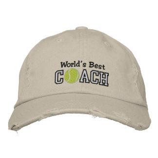 Casquette Brodée Le meilleur entraîneur de tennis du monde