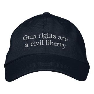Casquette Brodée Les droites d'arme à feu sont une liberté civile